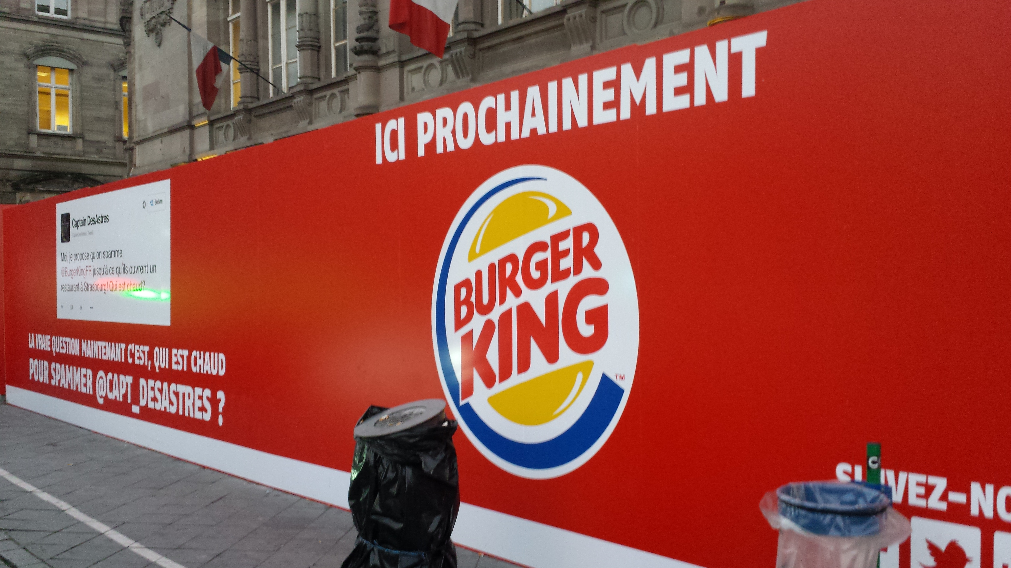 burger king pousse cot de la verri re de la gare de strasbourg. Black Bedroom Furniture Sets. Home Design Ideas